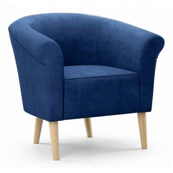 Bettso Tapicerowany fotel do salonu PERO - granatowy / R81