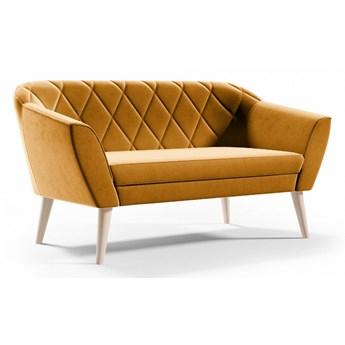 Bettso Pikowana sofa tapicerowana VIVA 2 - miodowy / R41