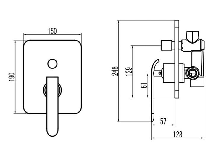VELDMAN ZESTAW PODTYNKOWY 2712 DESZCZOWNICA SLIM (rozmiar do wyboru) Wyposażenie Z baterią