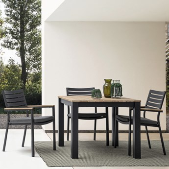 Krzesło ogrodowe Delmar 60x89 cm czarne