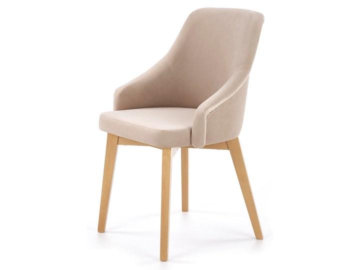 Krzesło drewniane nowoczesne do jadalni Jasny beż CAMILLA