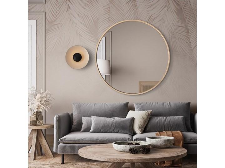 Lustro Scandi Wood – okrągłe w ramie ze sklejki Lustro z ramą Ścienne Styl Nowoczesny