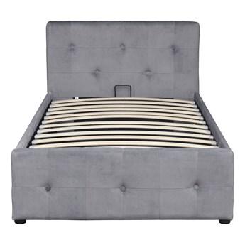 Łóżko tapicerowane 90x200 Bella szary welur