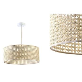 Lampa rattanowa wisząca w stylu boho 40,50,60cm - do salonu sypialni (Rotang-002, 1xE27) ręcznie robiona, 50cm