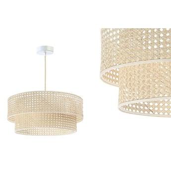 Lampa rattanowa wisząca w stylu boho 40,50,60cm - do salonu sypialni (Rotang-008, 1xE27) ręcznie robiona, 50cm
