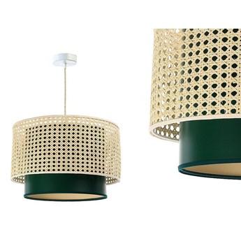 Lampa rattan-satyna wisząca w stylu boho 40,50,60cm - do salonu sypialni (Rotang-009, 1xE27) ręcznie robiona, 50cm