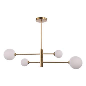 Złota lampa do salonu Dorado 4 kule