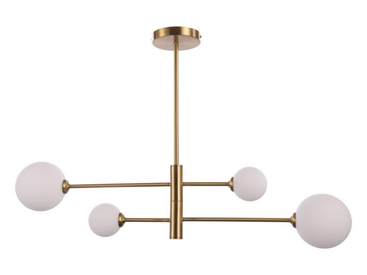 Złota lampa do salonu Dorado 4 kule Szkło Lampa z kloszem Kolor Złoty
