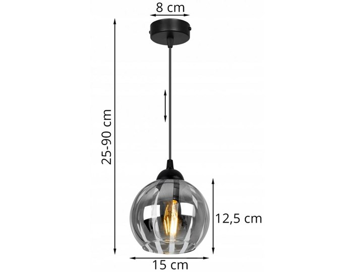 Nowoczesna Lampa Wisząca z Oryginalnym Kloszem ze Szkła Szkło Lampa z kloszem Funkcje Brak dodatkowych funkcji