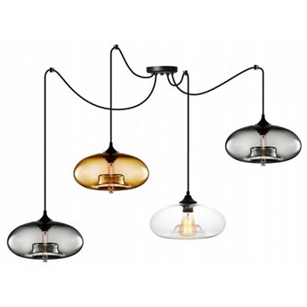 Designerska Lampa z Kloszami ze Szkła Mix Kolorów