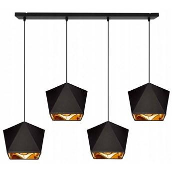 Elegancka Lampa Wisząca z Abażurami i  Miedzianym Środkiem