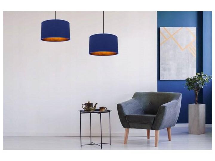 Klasyczna Lampa Wisząca z Abażurem i Metalicznym Wnętrzem Lampa z abażurem Kategoria Lampy wiszące Styl Klasyczny