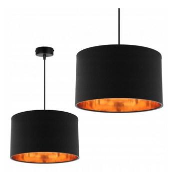 Klasyczna Lampa Wisząca z Abażurem i Metalicznym Wnętrzem
