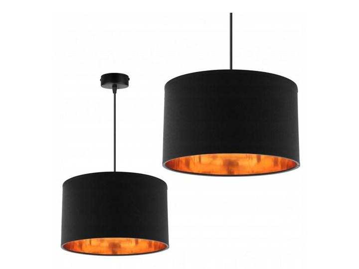 Klasyczna Lampa Wisząca z Abażurem i Metalicznym Wnętrzem Lampa z abażurem Styl Klasyczny