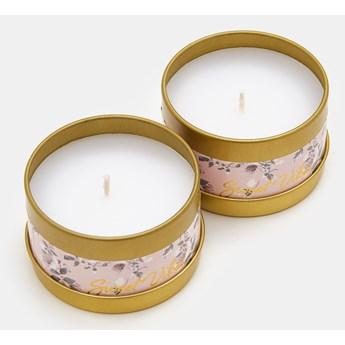 Sinsay - Świece zapachowe Sweet Vibes 2 pack - Różowy