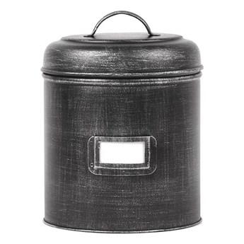Czarny pojemnik metalowy LABEL51, ⌀ 19,5 cm