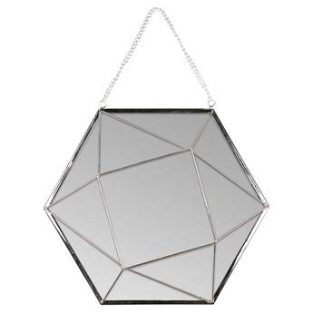 SELSEY Lustro wiszące Nidial 27x23,5 cm srebrne