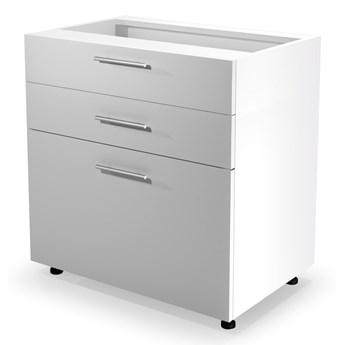 VENTO D3S-80/82 szafka dolna z szufladami front: biały (1p 1szt) Halmar