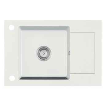 STEMA zlewozmywak granitowy biały (1p 1szt) Halmar