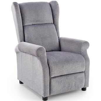 AGUSTIN rozkładany fotel wypoczynkowy popielaty Halmar