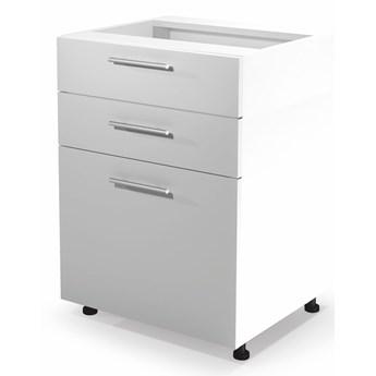 VENTO D3S-60/82 szafka dolna z szufladami front: biały (1p 1szt) Halmar