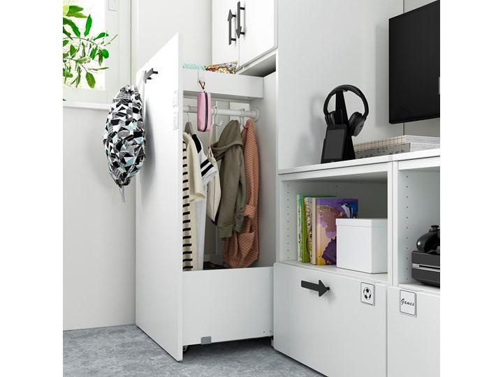 IKEA SMÅSTAD / PLATSA Regał, Biały biały/z wysuwaniem, 180x57x196 cm Kategoria Zestawy mebli do sypialni