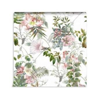 Tapeta jasne kwiaty i liście