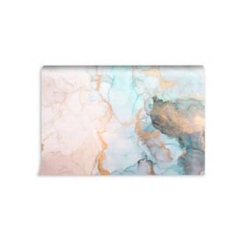 tapeta marmur akwarela abstrakcja złoto róż