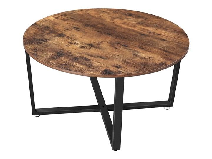 SELSEY Stolik kawowy Ramizu okrągły średnica 88 cm Stal Wysokość 47 cm Styl Vintage Styl Industrialny