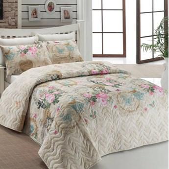 SELSEY Narzuta Lovely Pastels 200x220 cm z dwiema poszewkami na poduszkę 50x70 cm