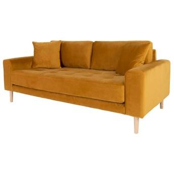 SELSEY Sofa Dagmarri 180 cm musztardowy welur
