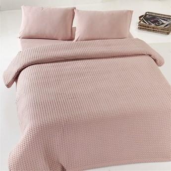 SELSEY Narzuta Porles 200x240 cm bawełniana pudrowa