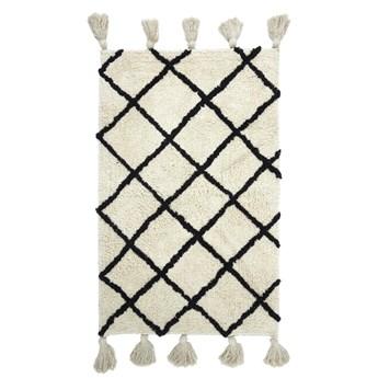 SELSEY Dywanik Aerty z frędzlami biało-czarny 50x80 cm