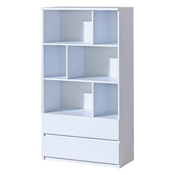 SELSEY Regał otwarty Dobie z szufladami biały