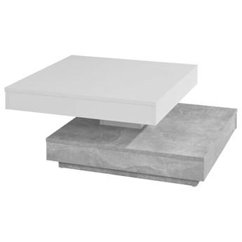 SELSEY Ława Carota 70x70  cm biały - beton