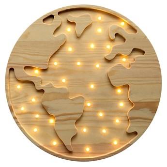 SELSEY Lampa dziecięca Globusik drewniana ręcznie wykonana