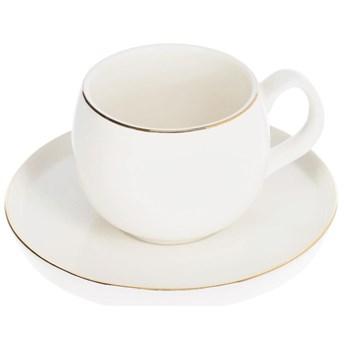 Filizanka do kawy  z podstawkiem Taisia porcelanowa