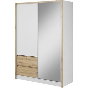 Szafa przesuwna Sara 150cm biały / dąb artisan - Meb24.pl