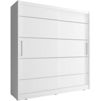 Szafa przesuwna Maja ALU 180cm biały - Meb24.pl
