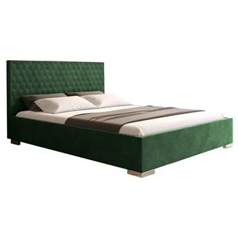 Nowoczesne łóżko CREATINA wysoki tapicerowany zagłówek