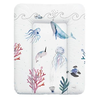 Ceba Baby Miękki przewijak - Watercolor World Ocean