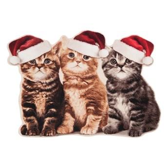 Wycieraczka Zala Living Christmas Cats Contour, 45x64 cm