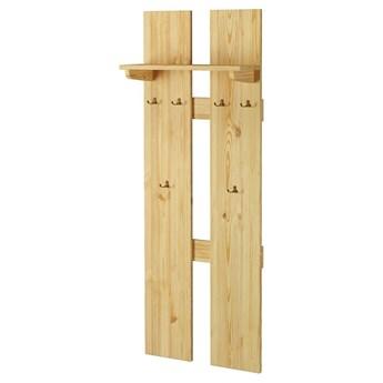 Wieszak ścienny 164x60 drewniany