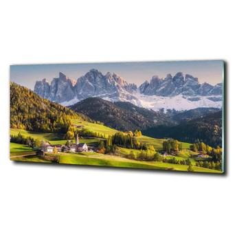 Foto obraz szkło hartowane Panorama góry