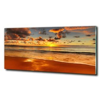 Foto obraz szklany Zachód słońca plaża