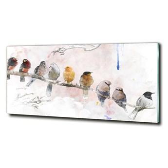 Fotoobraz na ścianę szklany Ptaki na gałęzi