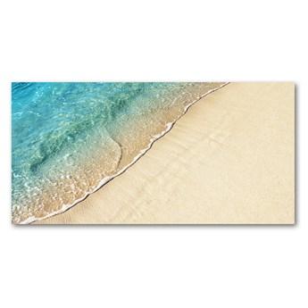 Foto obraz szkło hartowane Fala na plaży