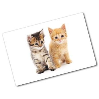 Deska kuchenna szklana Brązowy i rudy kot