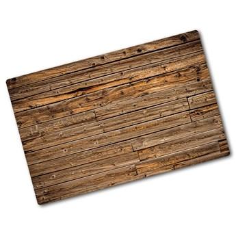 Deska kuchenna duża szklana Drewniana ściana