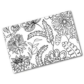 Deska do krojenia hartowana Kwiecisty wzór